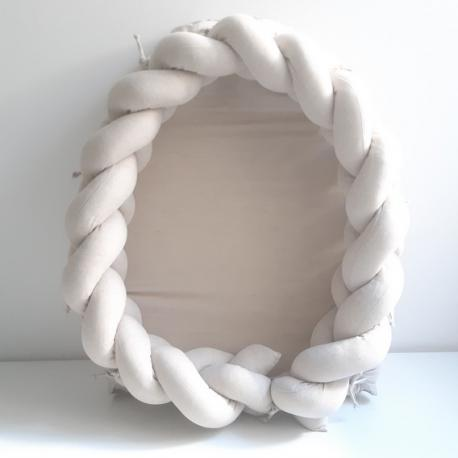 Cuna nido lino con protector cuna trenzado - Maminébaba
