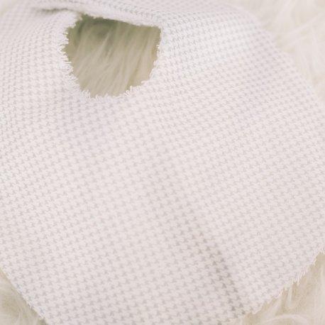 Bavoir carreaux gris de Maminébaba