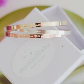 Bracelets personnalisés pour Maman et bébé - Maminébaba