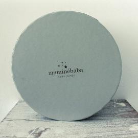 Caja redonda gris Maminébaba