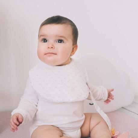 Babero para bebé con diseño Plumetti - Maminébaba